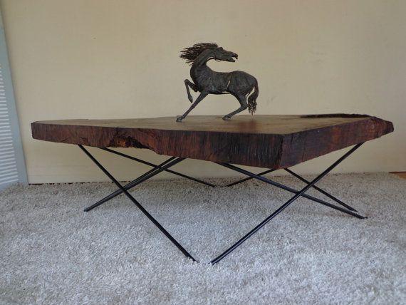 redwood burl coffee table with custom base awesome pinterest rh pinterest com