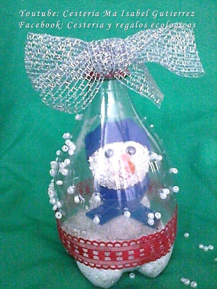 Adornos navide os con botellas de pl stico diy christmas for Adornos navidenos reciclados faciles