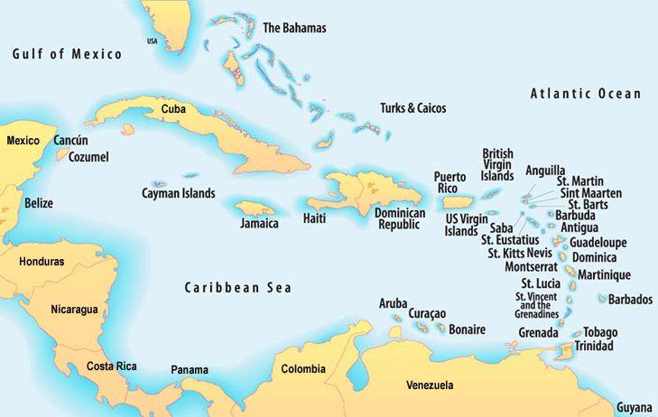Southern Caribbean Map Caribbean Sea Map | where? | Cruise port, Caribbean cruise