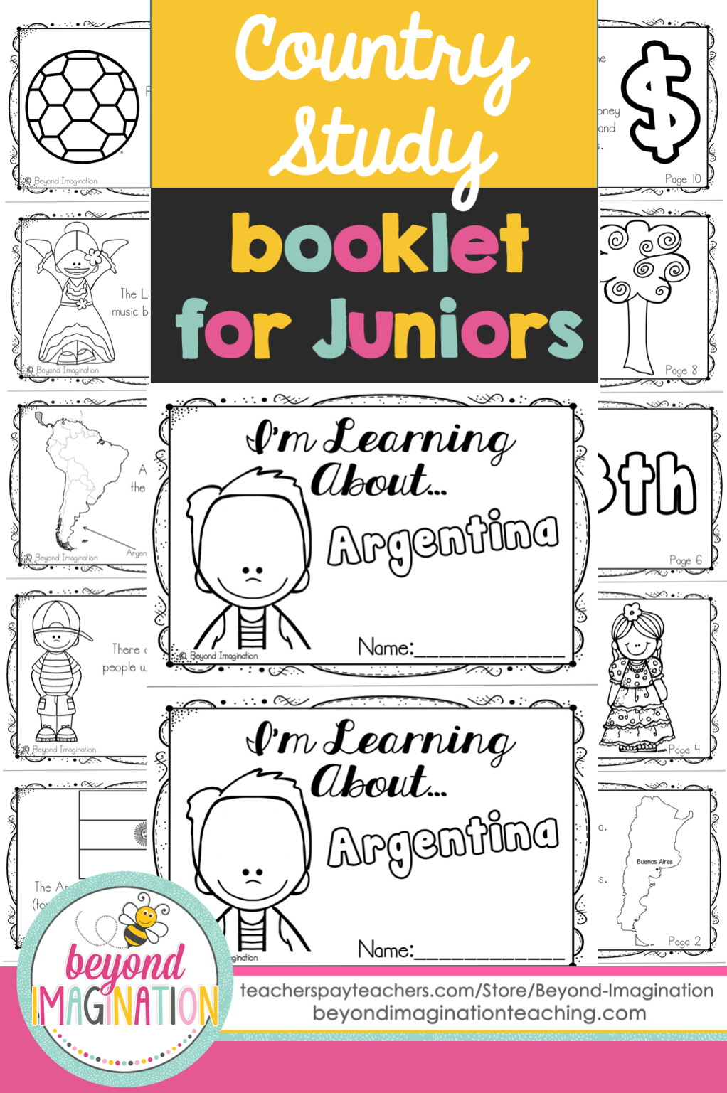 Argentina Booklet Country Study Project Unit | Espanol