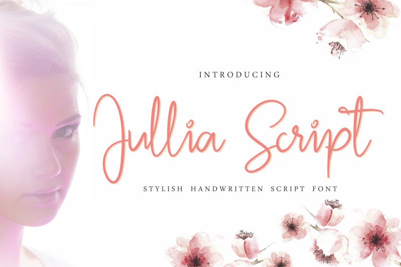 Jullia Script Font Free script fonts, Free