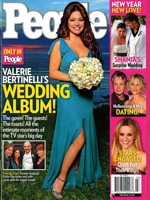 Valerie Bertinelli In David Meister Bridal In People Magazine Valerie Bertinelli Surprise Wedding People Magazine