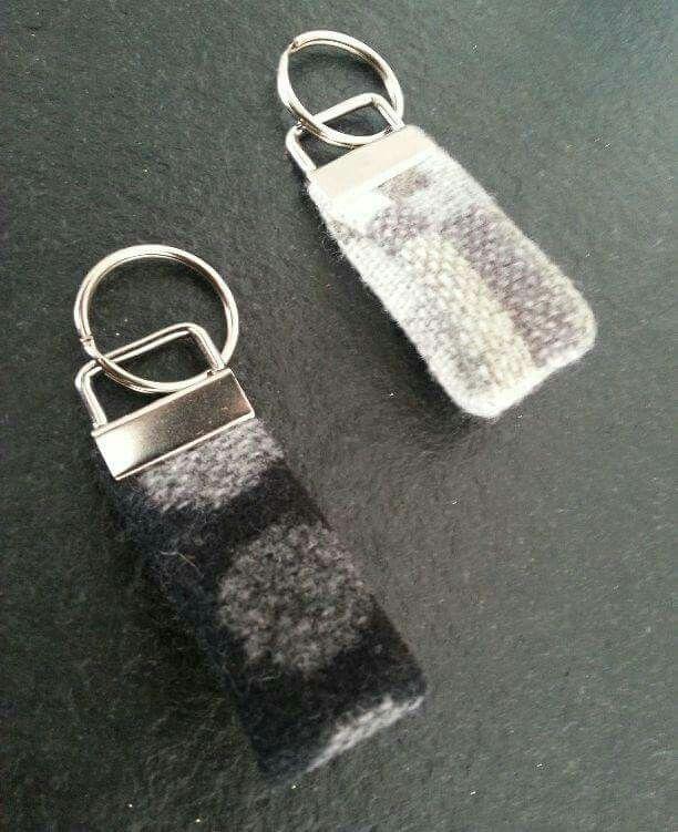 Welsh woven wool keyrings