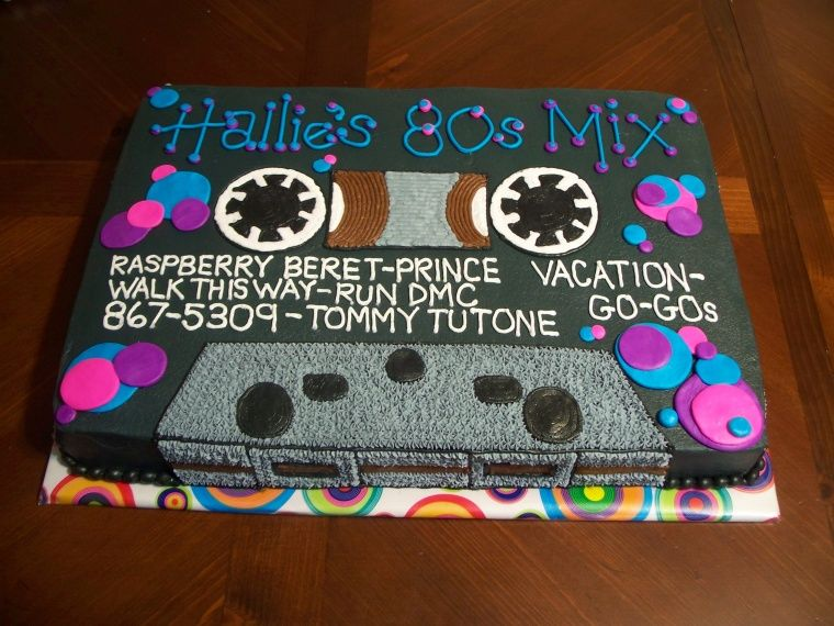 80s Retro Themed Cake Cassette Tape With Images 80s