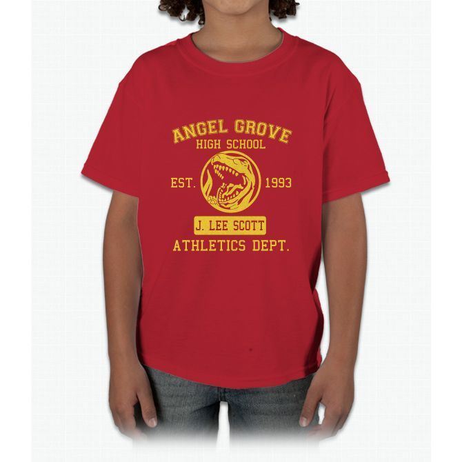 Angel Grove H.S. (Red Ranger Edition) Young T-Shirt