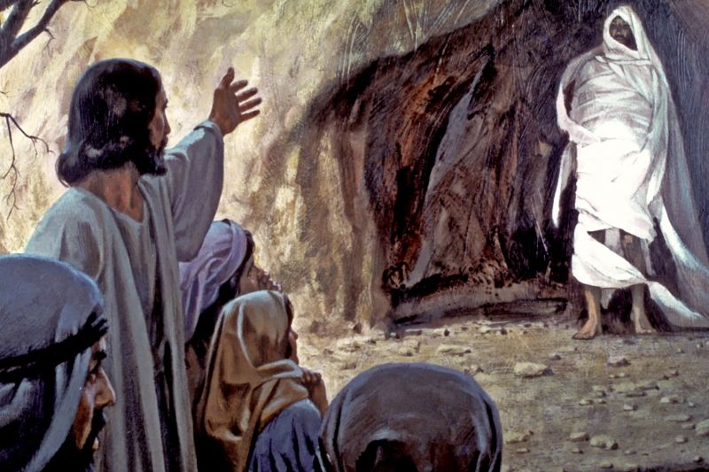 Jesus demonstrated a resurrection to earth by resurrecting