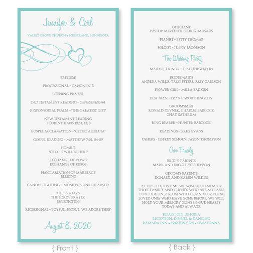 wedding program template download por diyweddingtemplates en etsy 800