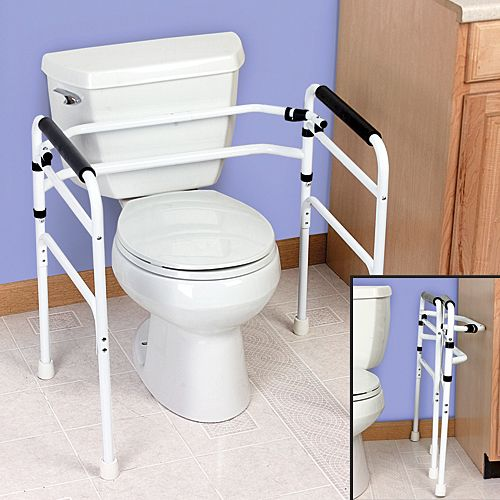the portable folding toilet support arm rest system is like having rh pinterest com