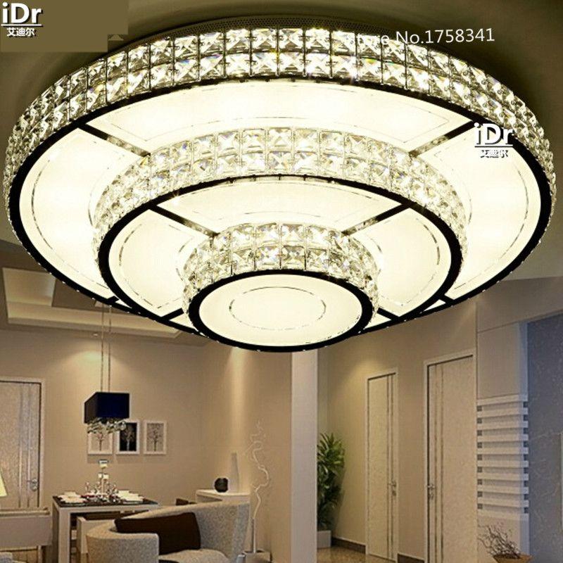 led crystal lamp living room lamps atmospheric circular promise rh pinterest com