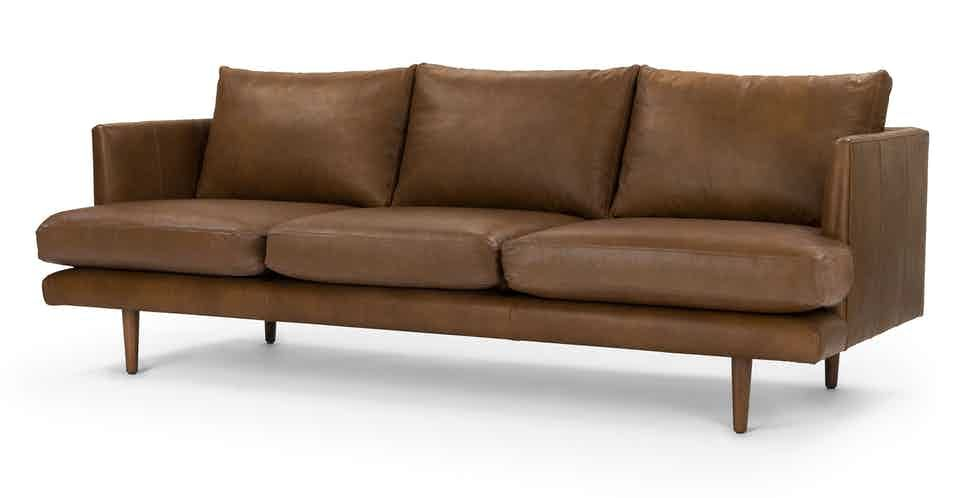 tan leather sofa 3 seater solid wood legs article burrard modern rh pinterest com