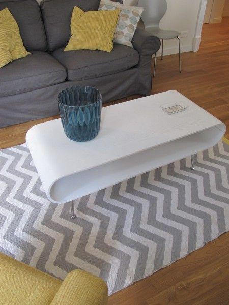 Hooper Couchtisch, Weiß Retro-Stile, Couchtische und Wohnzimmer - wohnzimmer retro stil