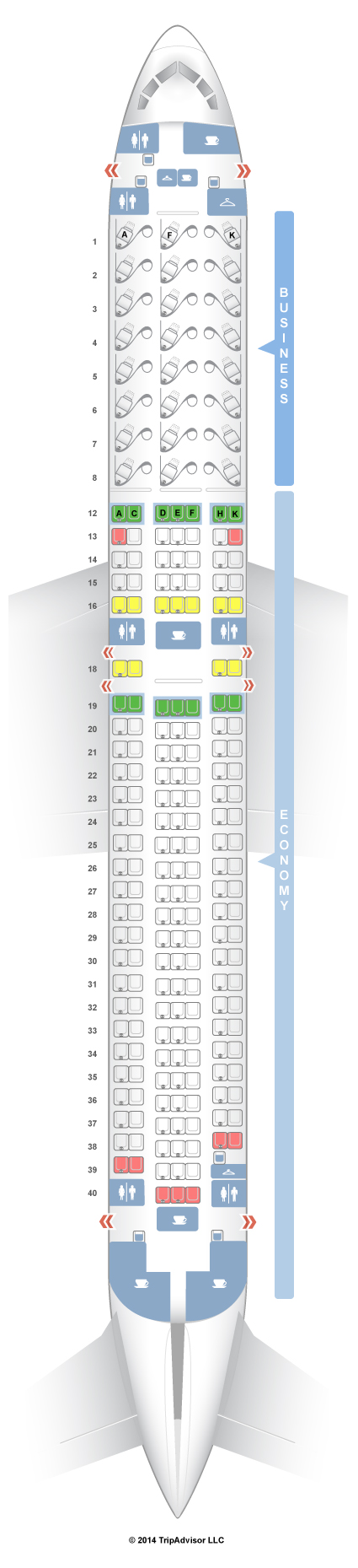 SeatGuru Seat Map Air Canada Boeing 767300ER (763) V1