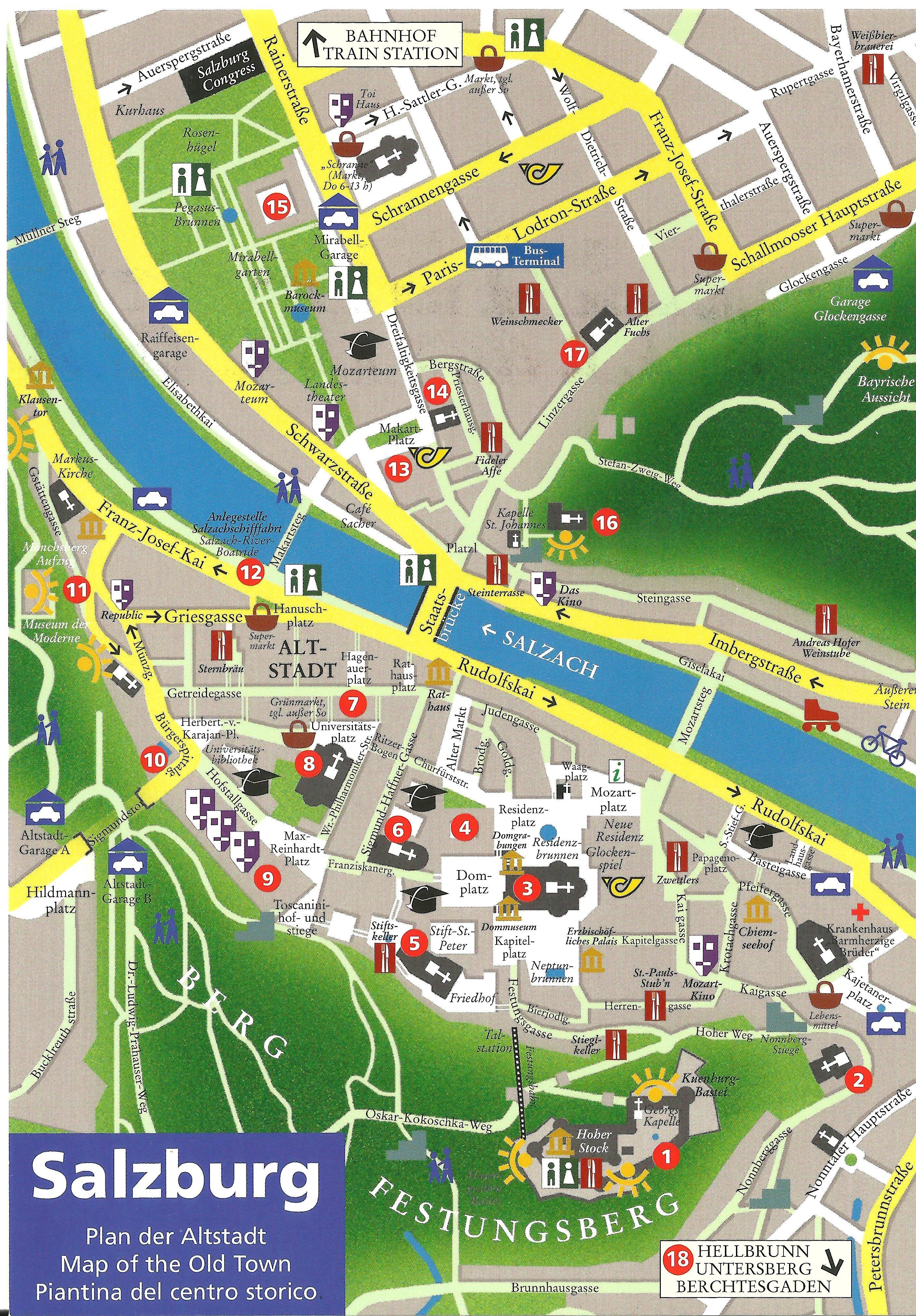 Salzburg map Where you should go Salzburg Pinterest