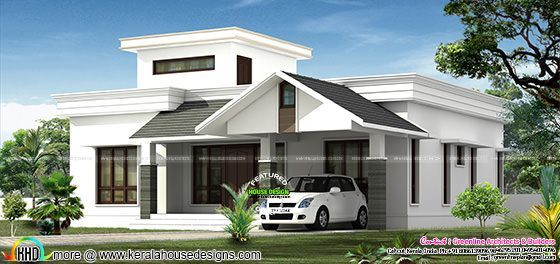 low budjet single floor house design in 2019 kerala house design rh pinterest com