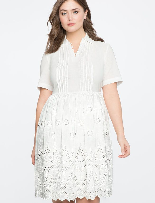 Eyelet Fit and Flare Dress | Women\'s Plus Size Dresses | AphroChic ...
