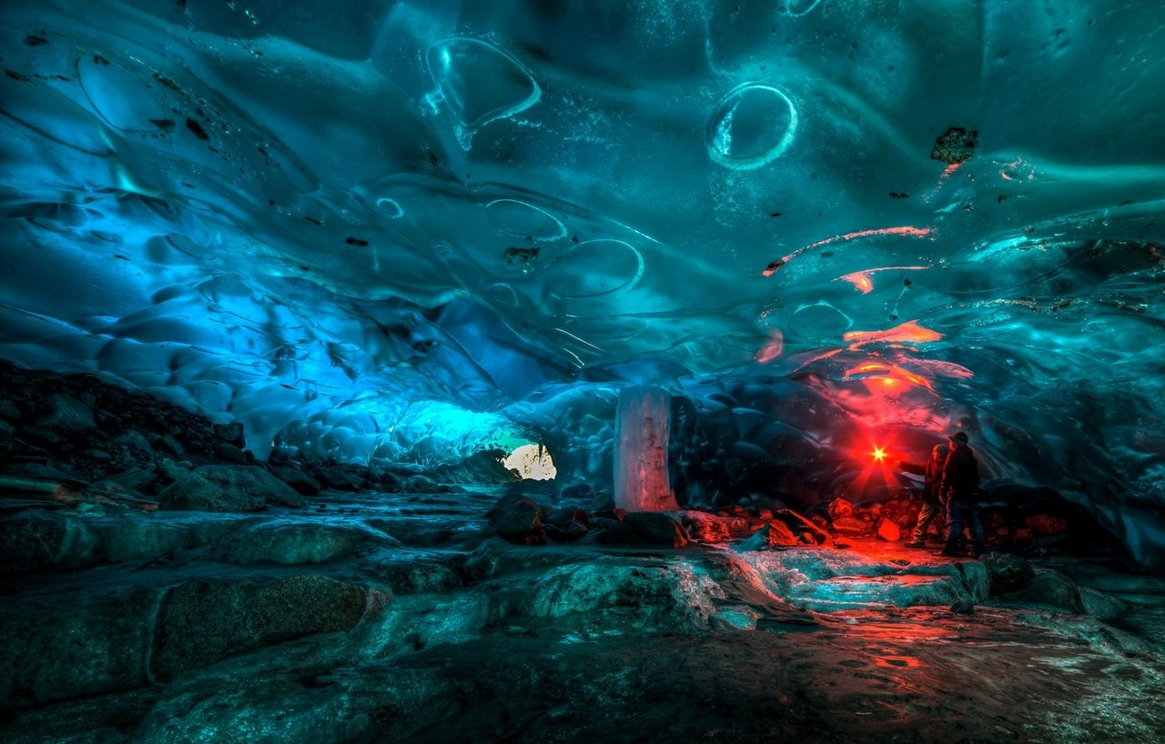An Alaskan ice cave