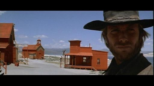 Clint Eastwood Painting The Town Red In High Plains Drifter 1972