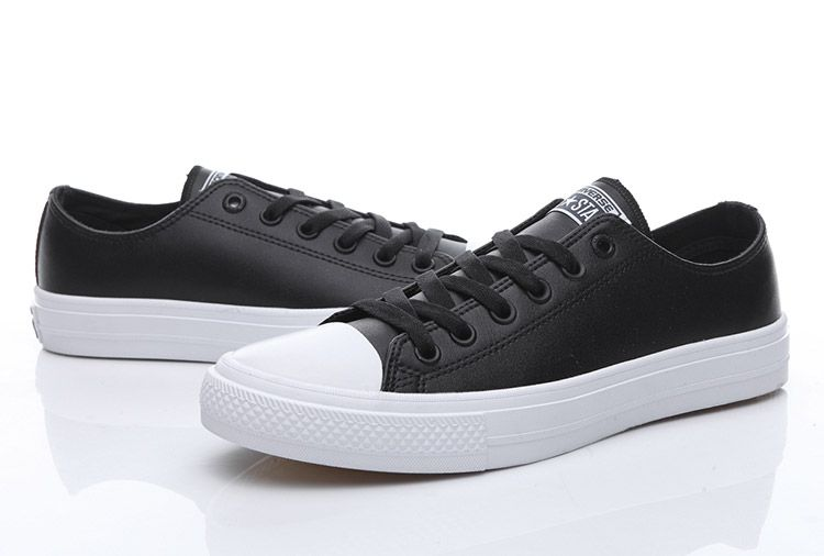 ca577432a4f6 Converse Chuck Taylor II All Star Black Leather Low Transparent Sole Shoes   converse  shoes