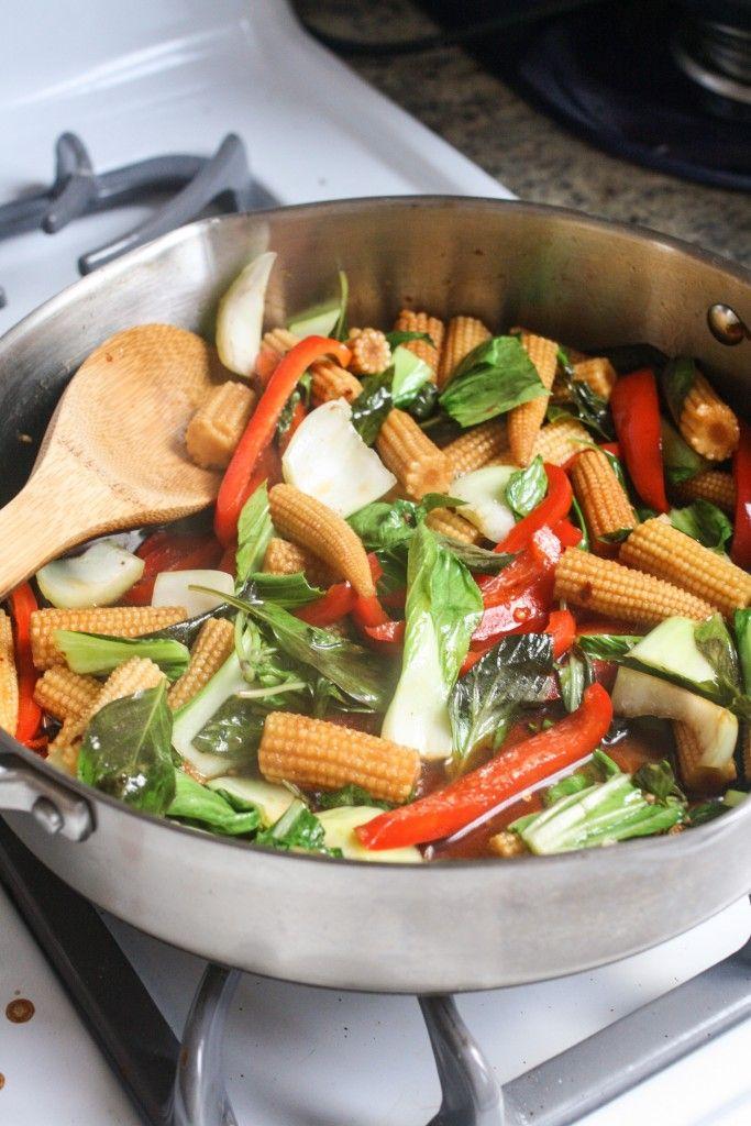 Thai Basil Stir Fry With Crispy Tofu