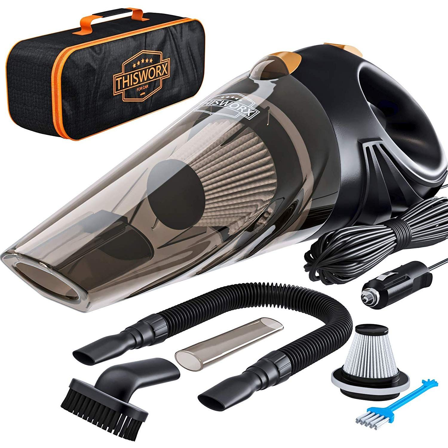 Clean Your Car Like A Pro Save Time And Money And Get Professional Results Yourself Every Time Strong Suction The Car Vacuum S Powerful 106w Motor And S