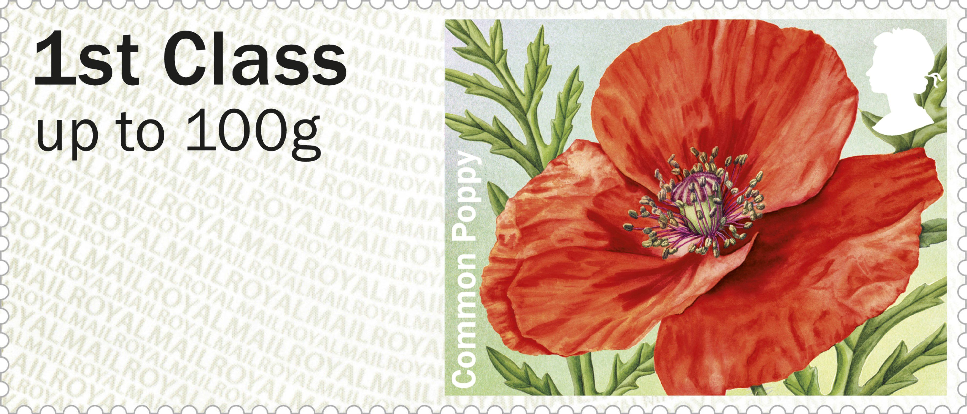 Post Go Symbolic Flowers British Flora 2 1st Stamp 2014