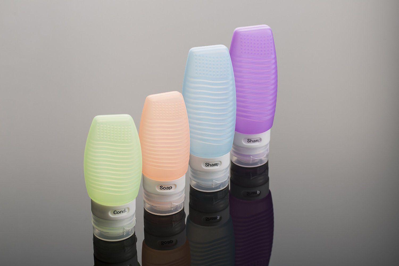 Amazon.com: LIFE VIP 4 PCS Portable Soft Silicone Travel Bottles Set: Home & Kitchen