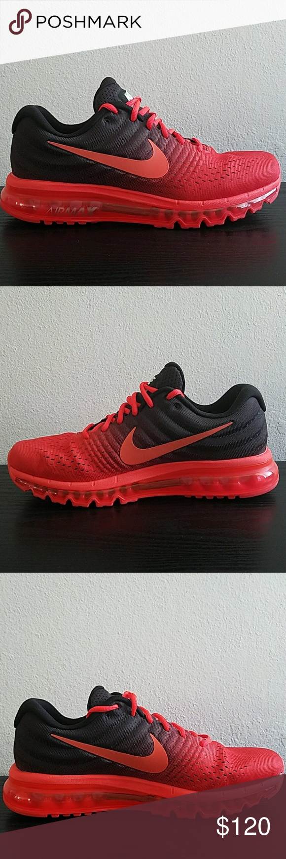 designer fashion 0502c addb4 Nike Air Max 2017 Crimson Nike 849559 600 New Nike Air Max 2017 Men s  Running Shoes Nike 849559 600 Color  Bright Crimson  Total Crimson Size  11.5 New ...