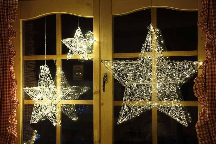 #LED #Weihnachtsstern Für #Fenster Aus Drahtgeflecht, Mit