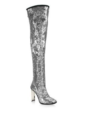 Giuseppe Zanotti - Sequin Metallic Over-The-Knee Boots
