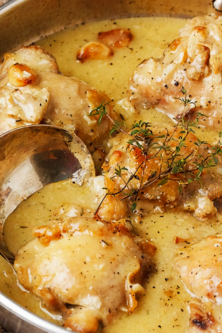 Rustic Chicken Recipe With Garlic Gravy images