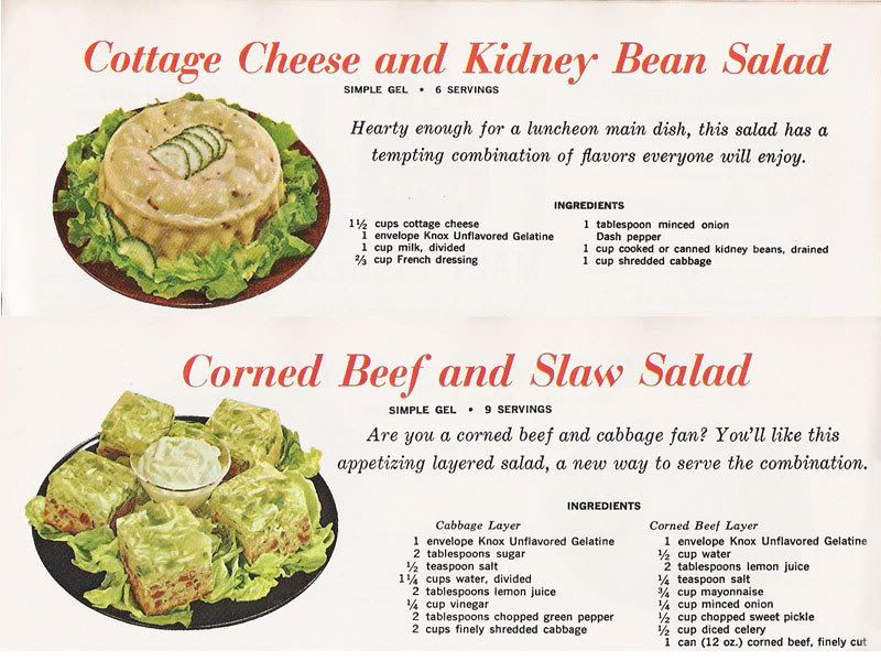 cottage cheese and kidney bean salad and corned beef and slaw salad rh pinterest com