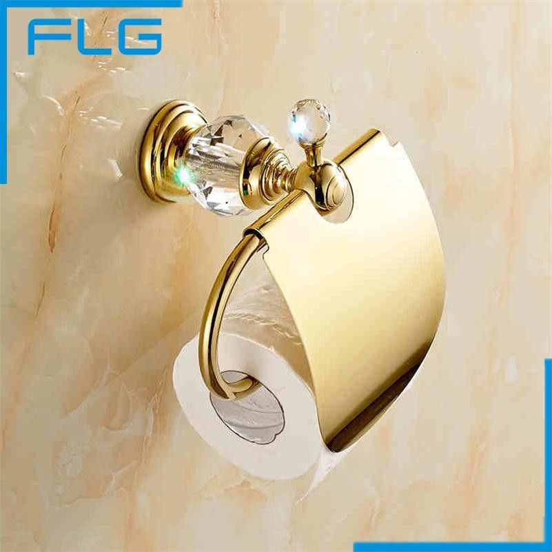 crystal bathroom accessories sets%0A Peruzi Bathroom Luxury Crystal Gold Plated Paper Towel Rack Hardware  Accessories European Toilet Rack Tissue Box shipping