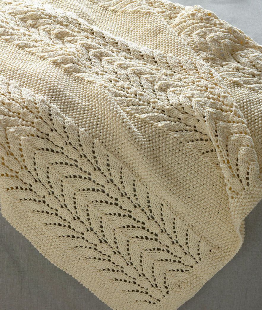 Free Knitting Pattern for Classic Lace Baby Throw - This baby ...