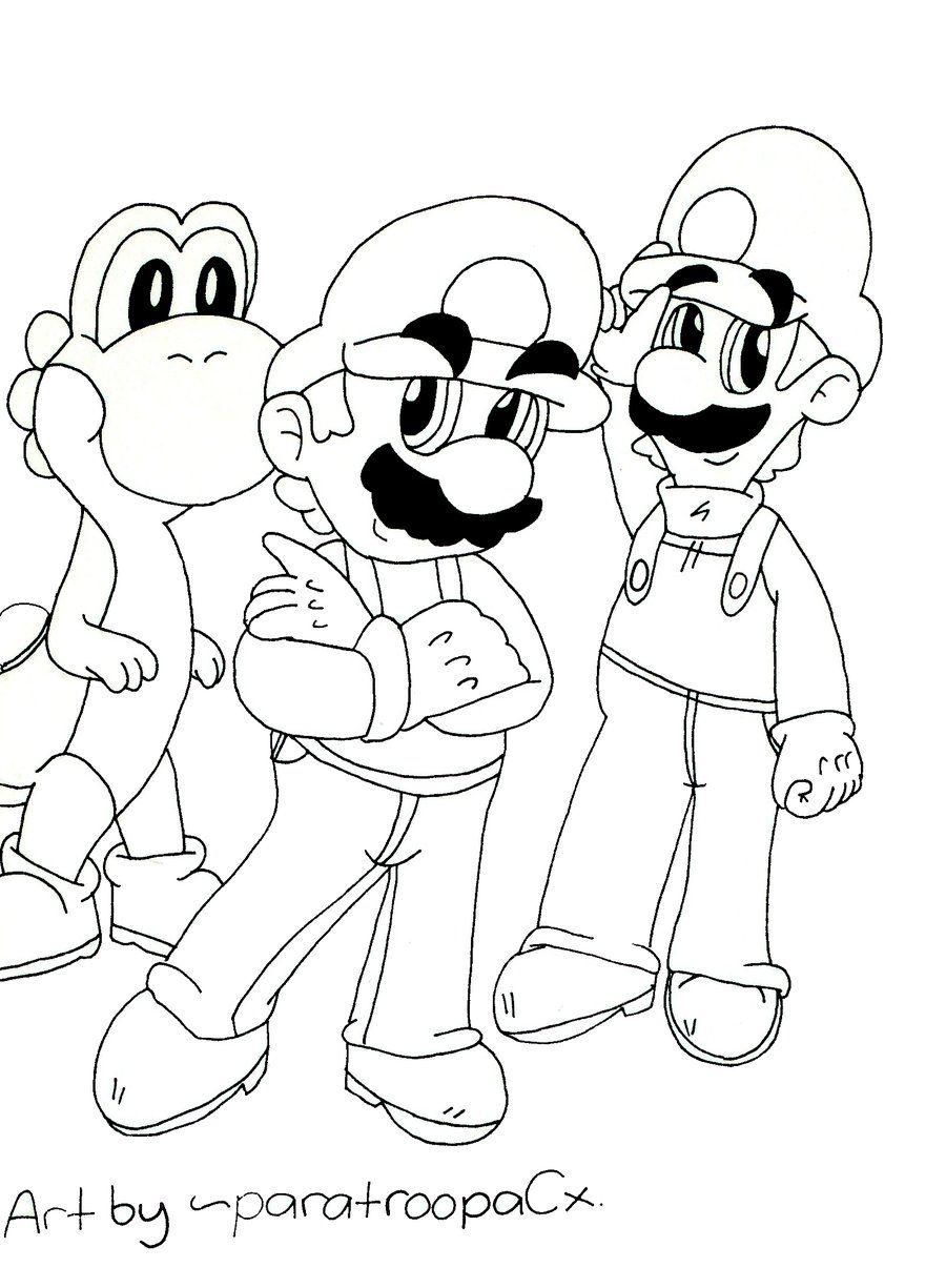 Supermario E Luigi Da Colorare.Guarda Tutti I Disegni Da Colorare Di Super Mario Www