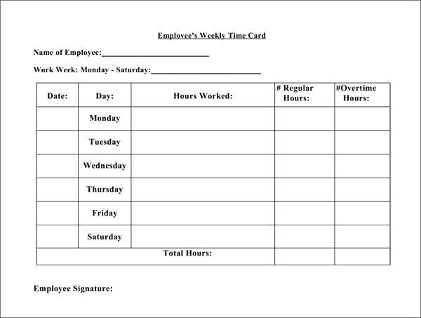 Time Card Calculator Templates Template Sheet Pdf Free Printable