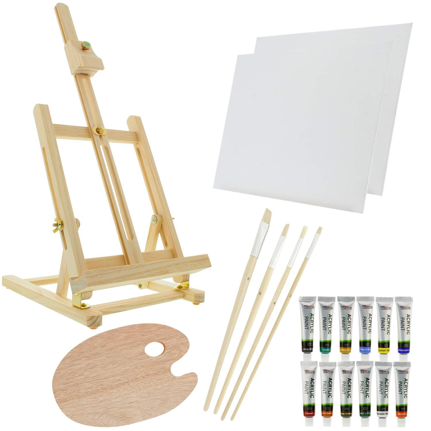 Business Card MEEDEN 48pcs 5 Inch Mini Wooden Easel Small Wood Display Stand for Artist Painting Christmas Decorative Plates and More Displaying Photos