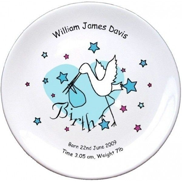 Personalised baby boy birth plate childrens gifts pinterest personalise with details of the birth the personalised plate makes a unique personalised gift for a special baby boy negle Images