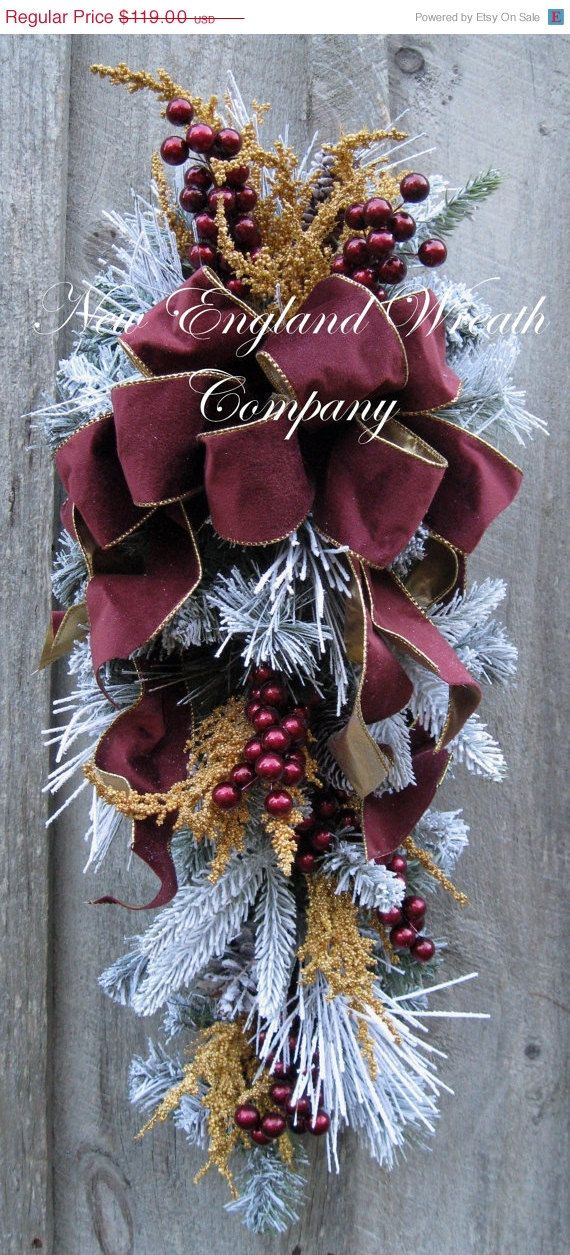 Year End Clearance Sale Christmas Wreath, Holiday Wreath, Christmas Swag,  Victorian Holiday,