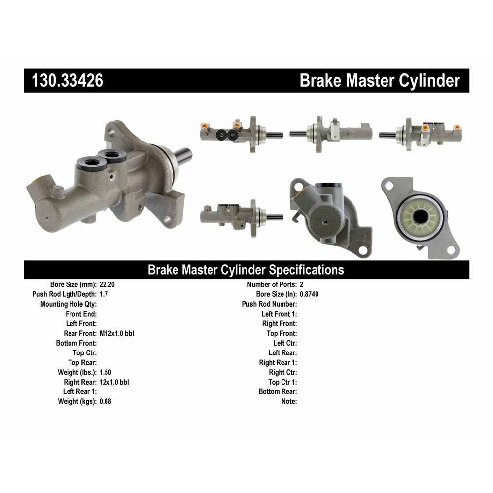 130.33426 Brake Master Cylinder Centric