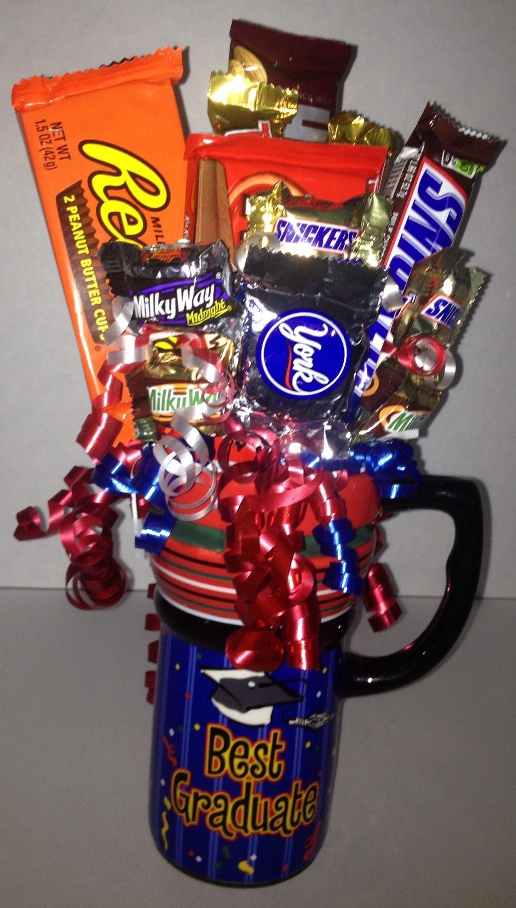 Graduation candy bouquet mug bouquets pinterest