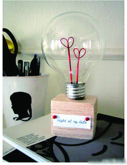 Old Bulb And Red Wire All You Need To Do A Love Bulb Bulb Valentine Gifts Perfume Bottles