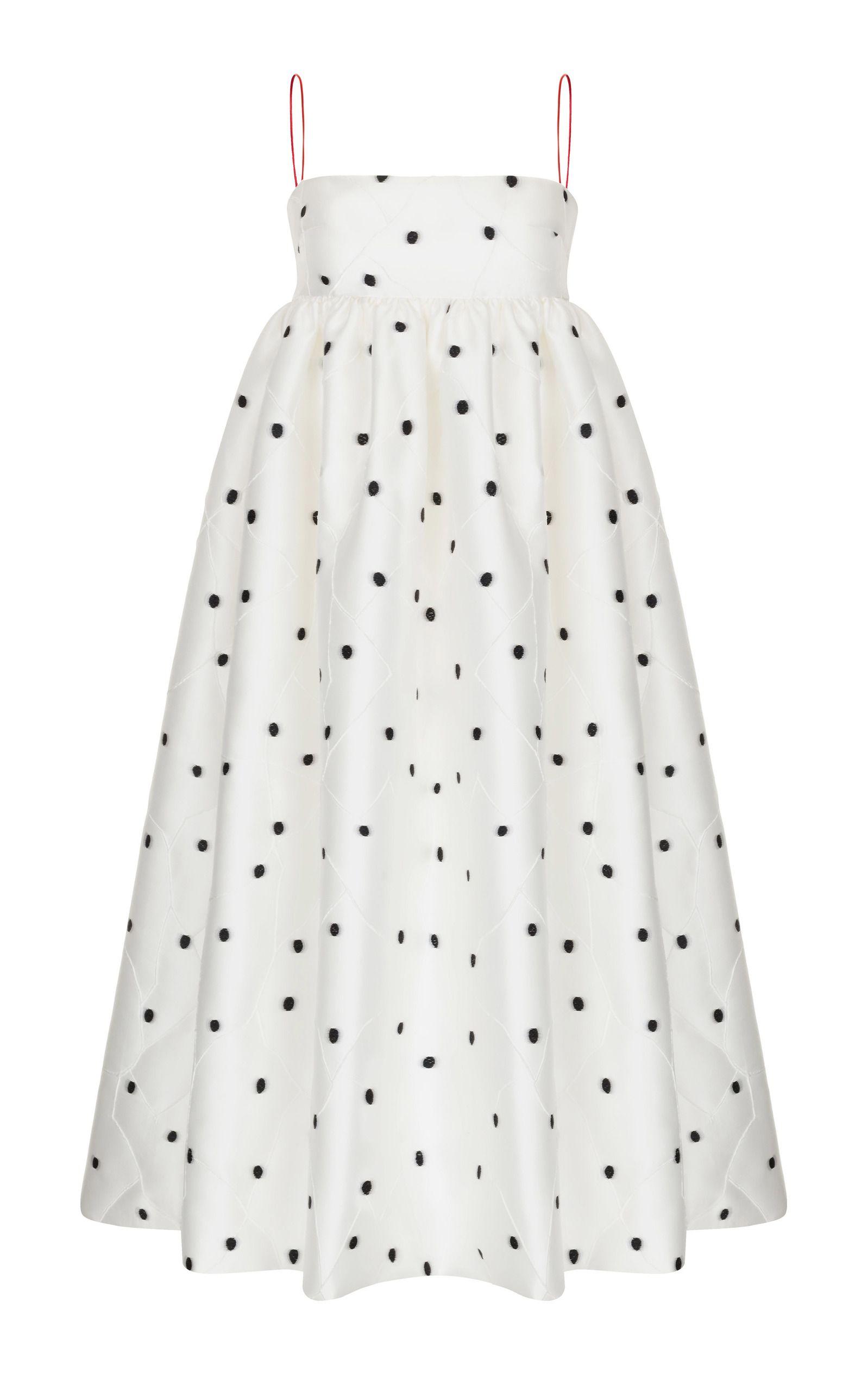 bcc9f3561 Jacquard Dress With Voluminous Skirt by RASARIO for Preorder on Moda  Operandi