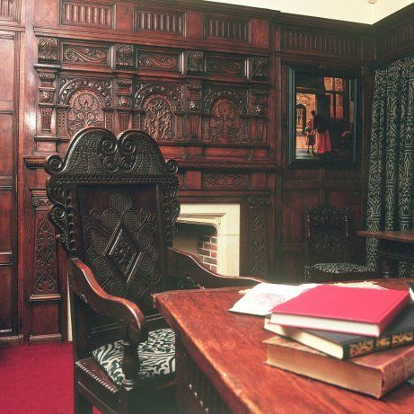 A Mid Century Study With Oak Panelling Find This Pin And More On Inspiring Interior Design Through History