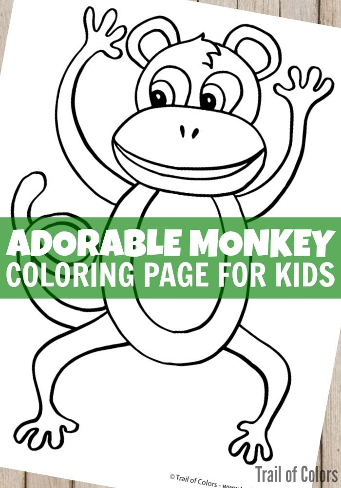 Monkey Coloring Page | Colorear