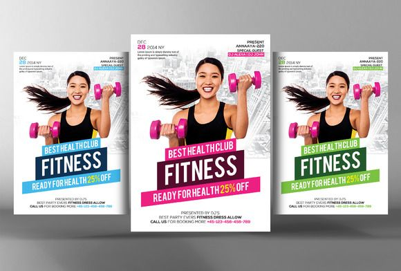 Fitness Flyer @creativework247 Flyer Templates - Flyers Design - fitness flyer template