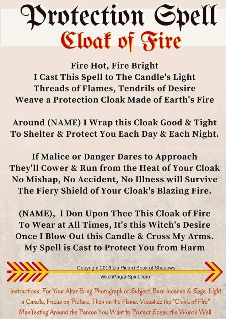 Protection Spell: Cloak of Fire #witchcraft #magic #magick #spell