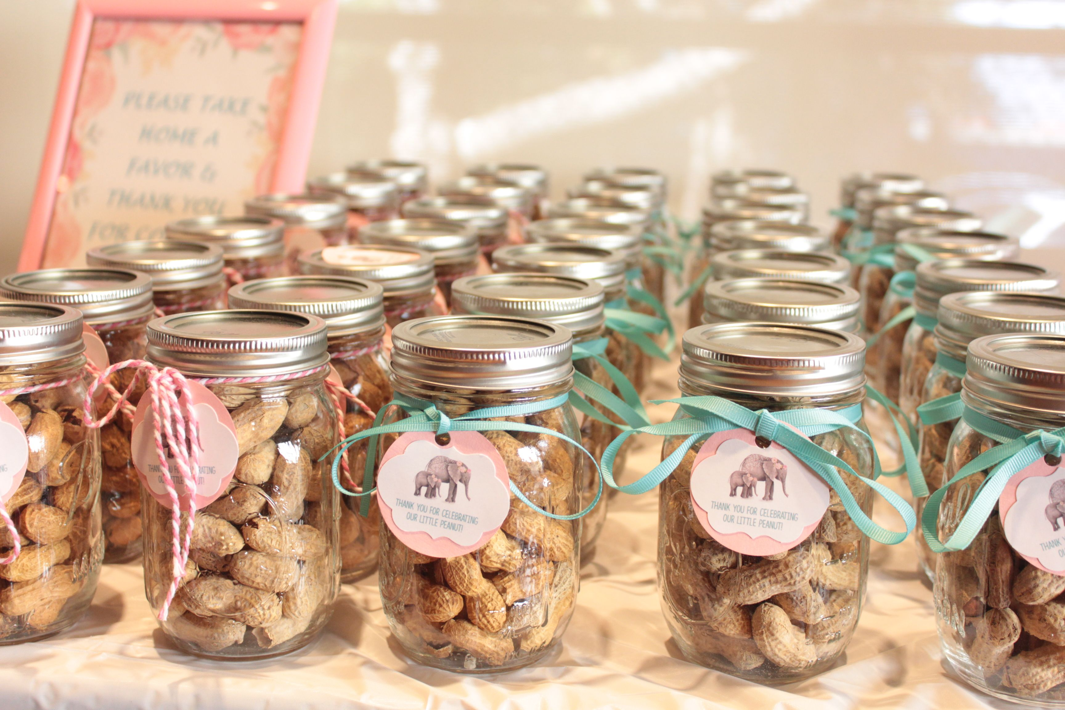 pinterest mason jar bridal shower favors%0A Lil Peanut Baby Shower