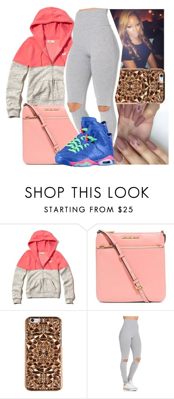 """""""Untitled #1131"""" by chynaloggins ❤ liked on Polyvore featuring Hollister Co., MICHAEL Michael Kors, Felony Case and Retrò"""