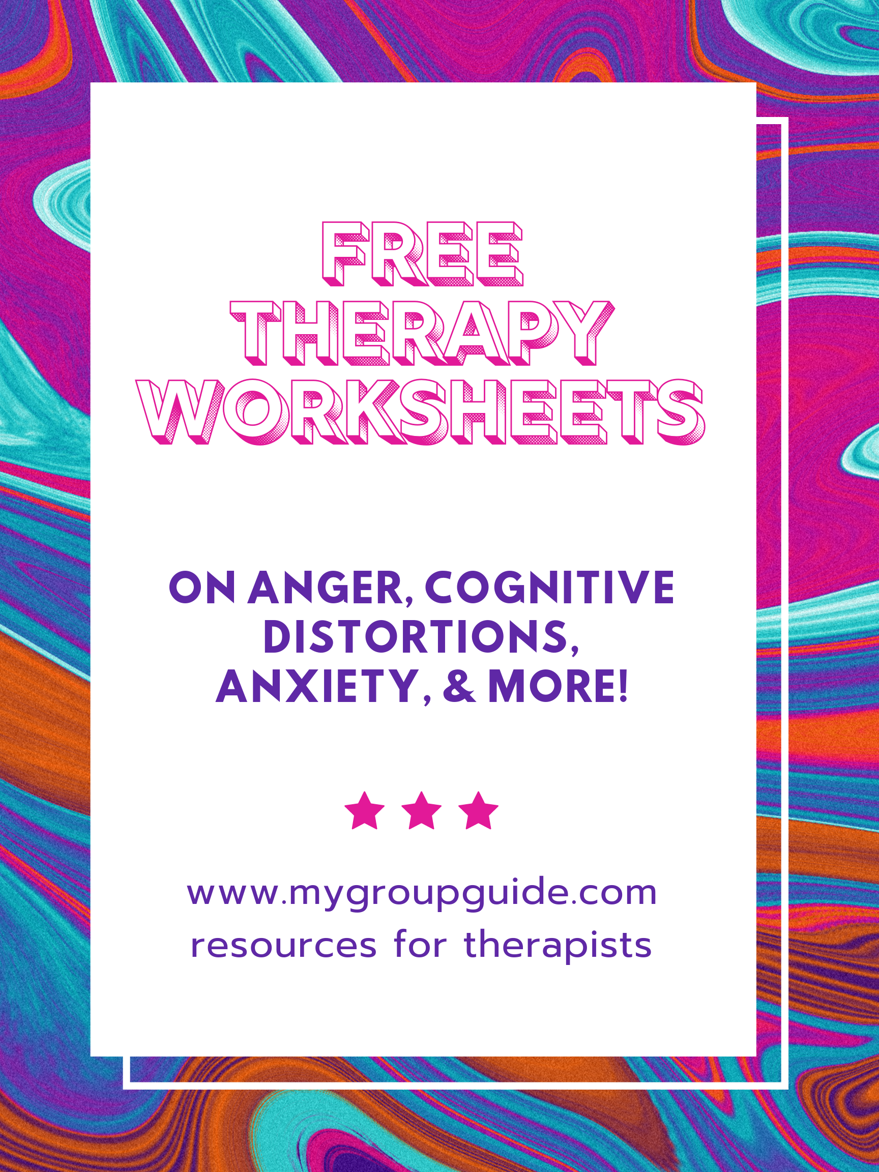 My Group Guide Free Therapy Worksheets