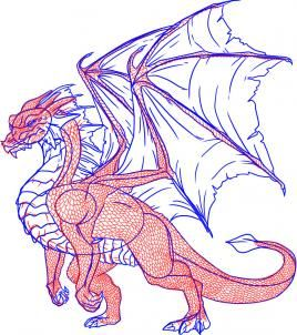 Dragoart Com How To Draw A Dragon Step By Step Step 8 Of 12